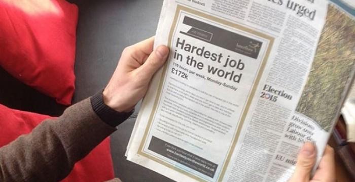 O 'emprego mais difícil do mundo' pagaria cerca de 240 mil euros anuais