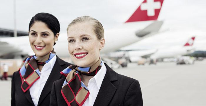 A Swiss Airlines está a recrutar Hospedeiras(os) de Bordo para Zurique