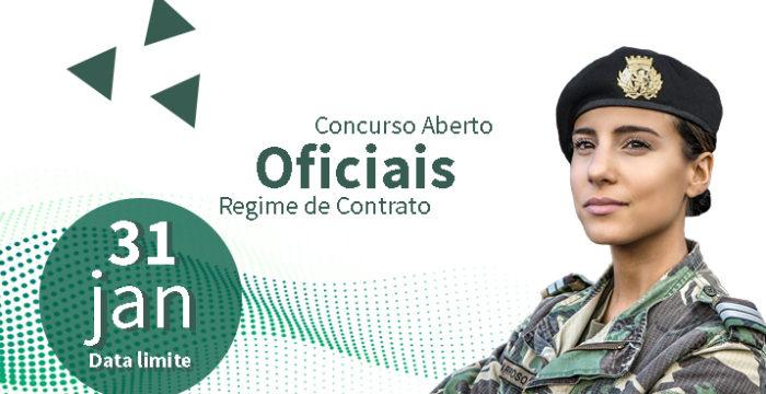 Exército tem 70 vagas para Oficiais. Candidata-te até 31 de Janeiro